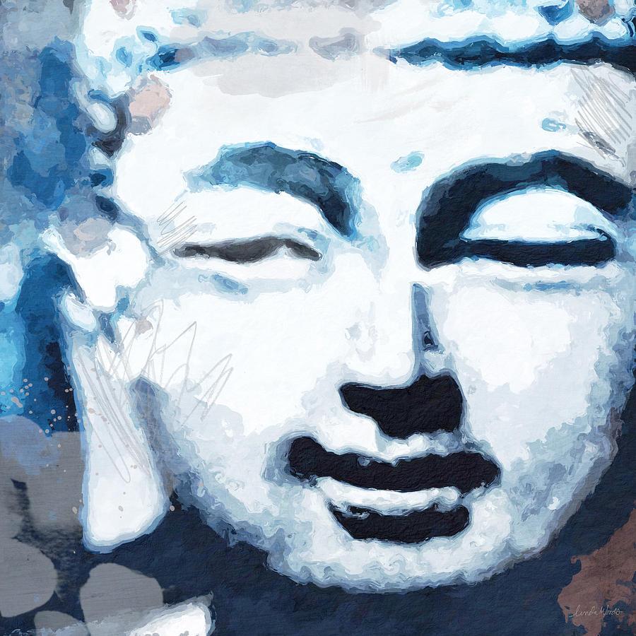 Buddha Digital Art - Peaceful Buddha 2- Art by Linda Woods by Linda Woods