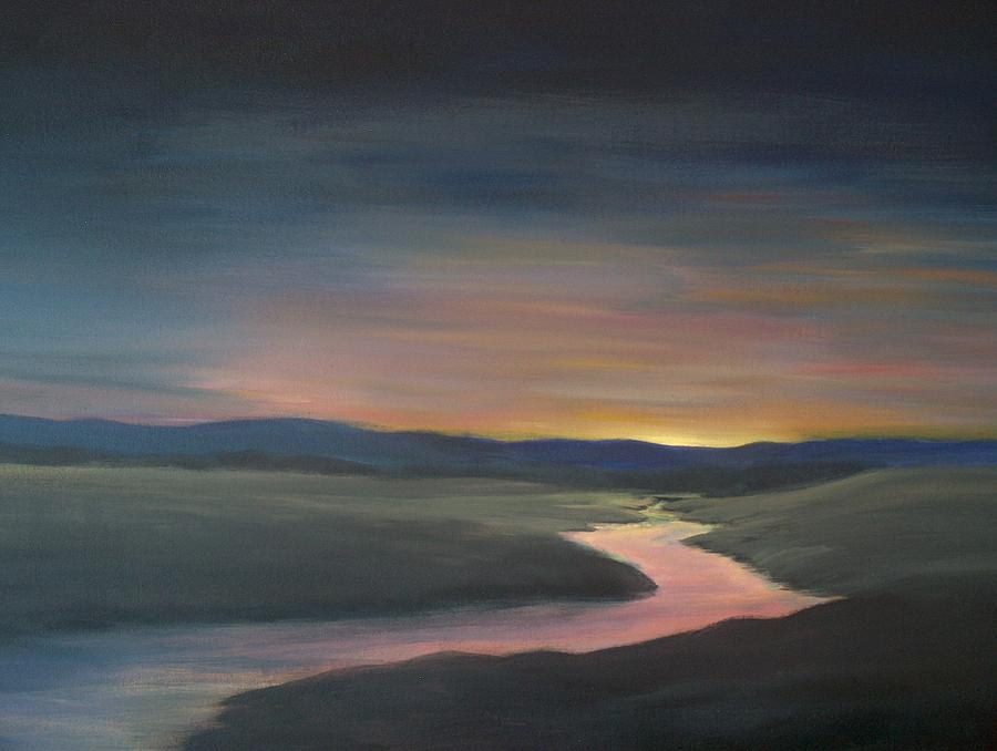 Sunset Painting - Peaceful by Denise   Hoff