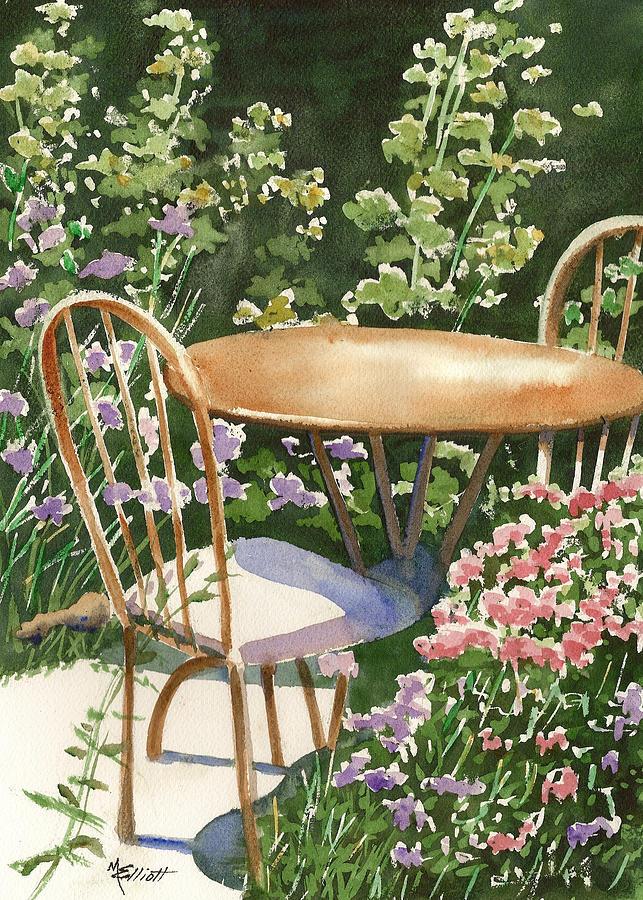 Table Painting - Peaceful Interlude by Marsha Elliott