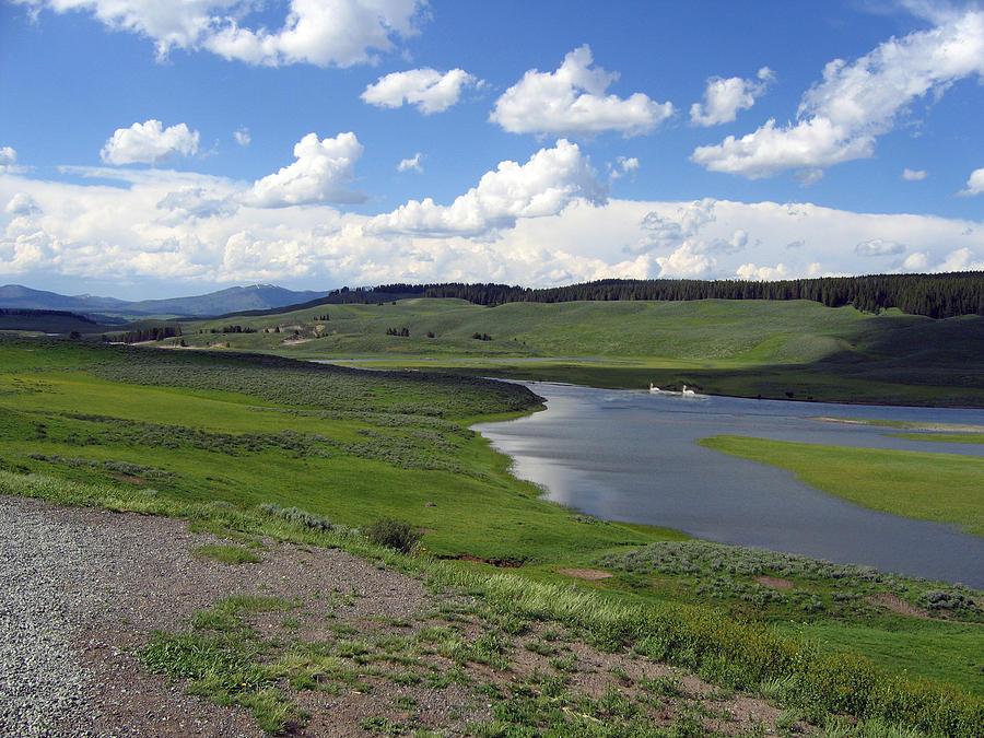 Lake Photograph - Peaceful Lake at Yellowstone by Diane Wallace