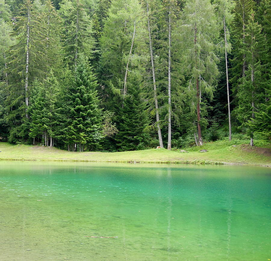 France Photograph - Peaceful Lake In The Alps by Marie-Claire GALLET