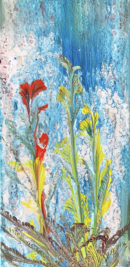 Blue Painting - Peaceful living by Beverly Johnson