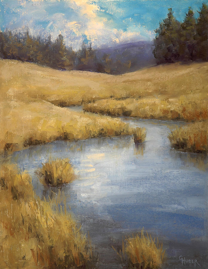 Pastel Painting - Peaceful Meanders by Gary Huber