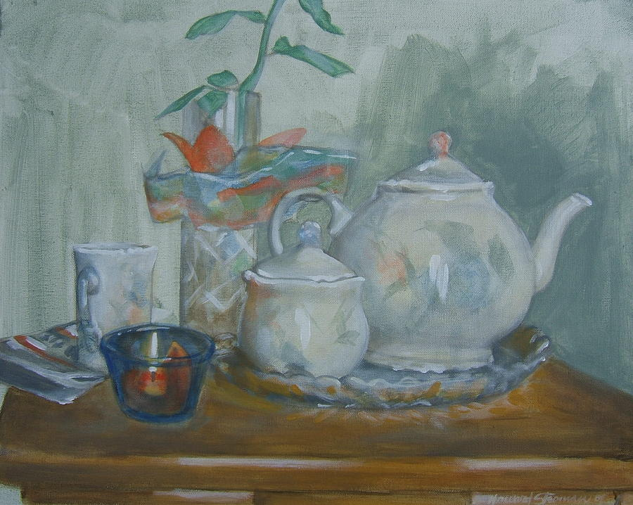 Still Life Painting - Peaceful Morning by Howard Stroman