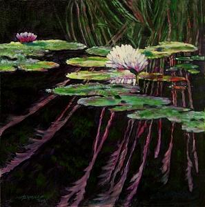 Peaceful Reflections Painting by John Lautermilch