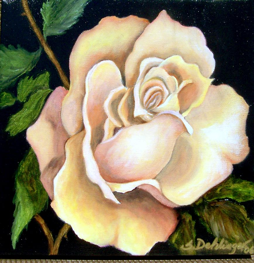 Still Life Painting - Peaceful Rose Sold by Susan Dehlinger