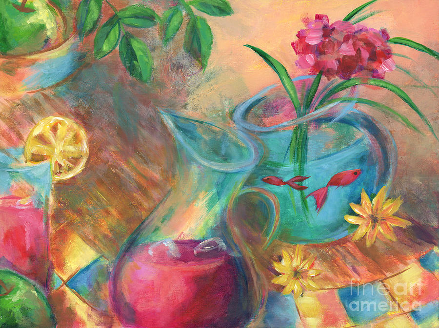 Lemonade Painting - Peaceful Summer by Brandy Woods