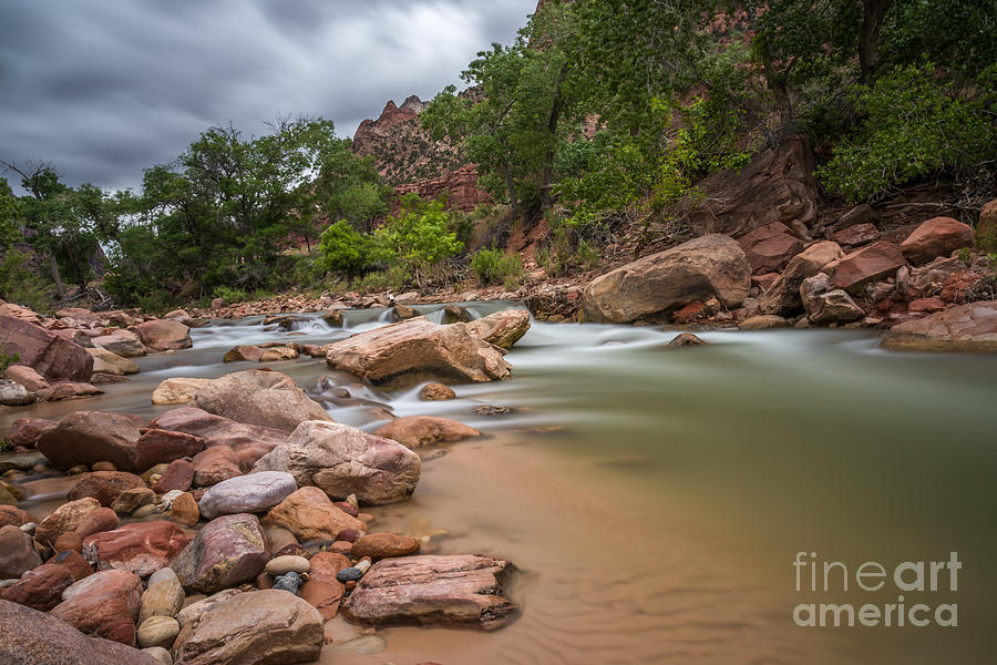 Landscape Photograph - Peaceful Waters of Zion by Leo Bounds