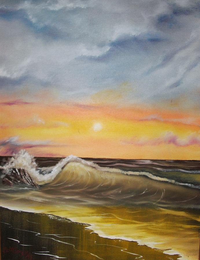 Landscape Painting - Peaceful Wave by Scott Easom