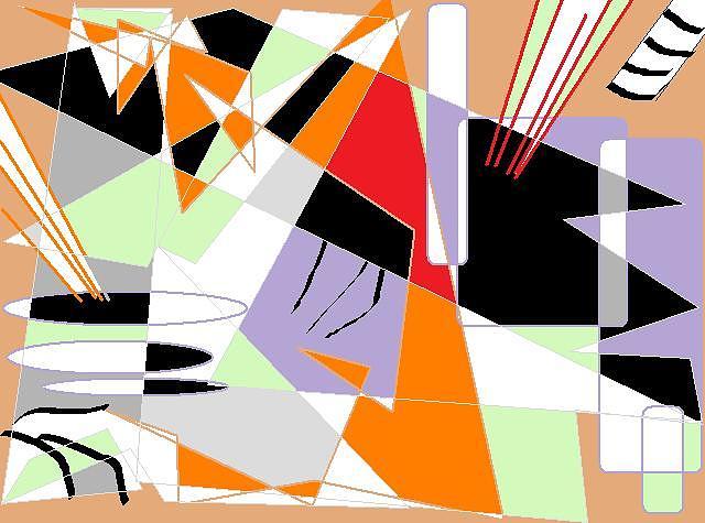 Abstract Digital Art - Peaceful World by Pierre Syvialeghana