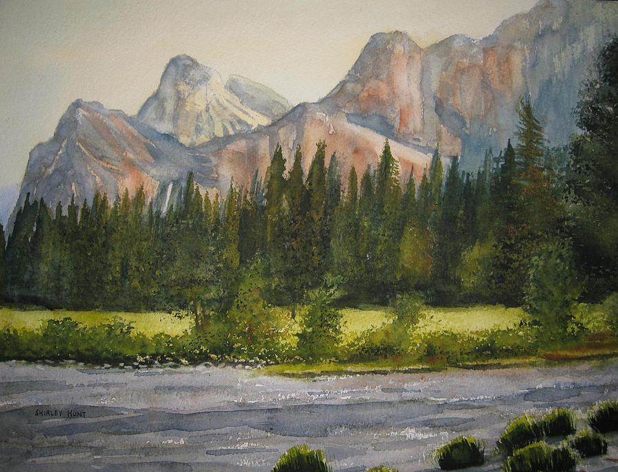 Landscape Painting - Peaceful Yosemite by Shirley Braithwaite Hunt