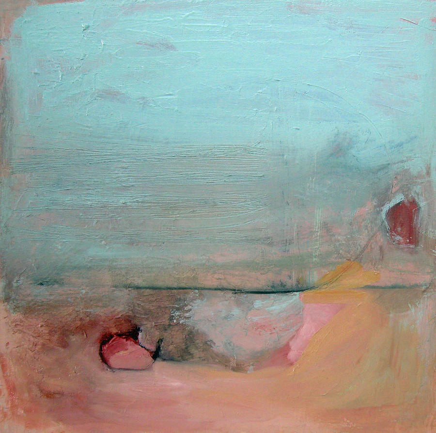 Art Painting - Peach And Mint Green by Brooke Wandall