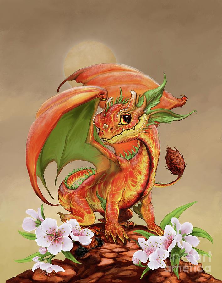 Peach Digital Art - Peach Dragon by Stanley Morrison