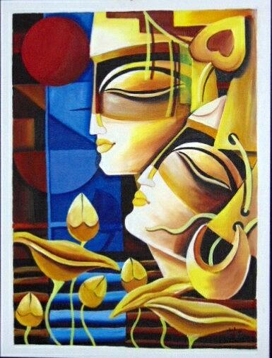 Contemporary Krishna Modern Art
