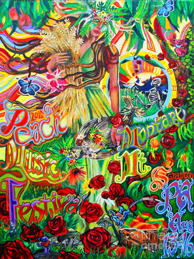 Peach Music Festival 2015 Painting By Kevin J Cooper Artwork