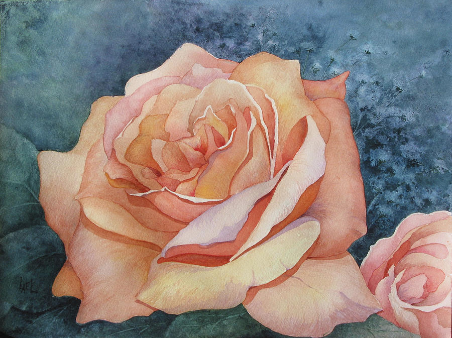 Peach Rose by Lael Rutherford
