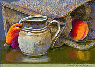 Peaches And Cream Drawing by Skeeter Leard