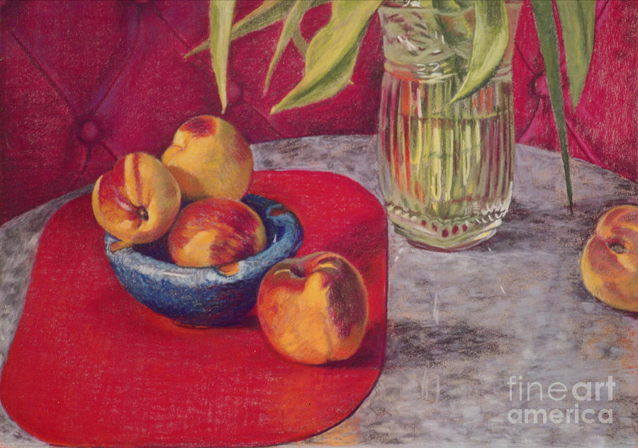 Granite Table Pastel - Peaches And Nectarines by Kathryn Donatelli