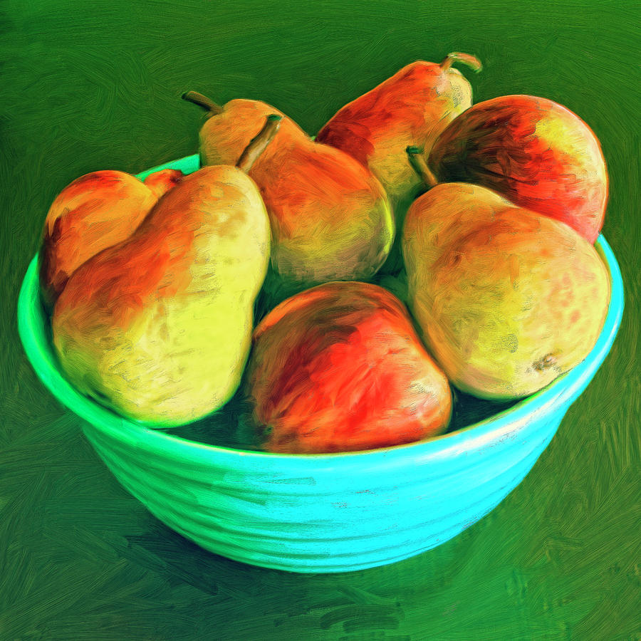 Peaches And Pears Painting - Peaches And Pears by Dominic Piperata