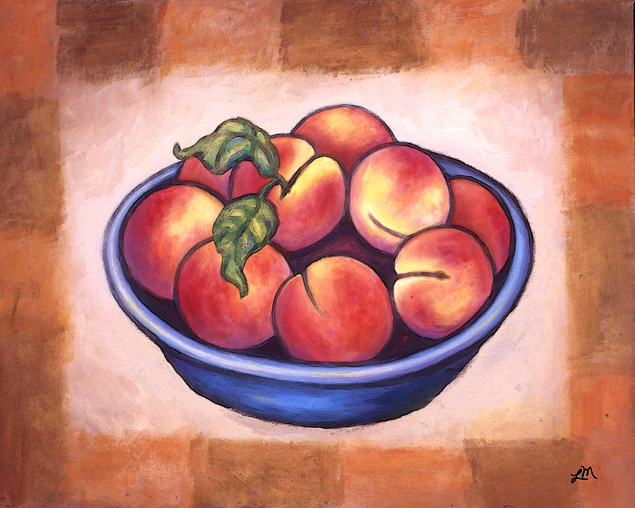 Fruits Painting - Peaches by Linda Mears