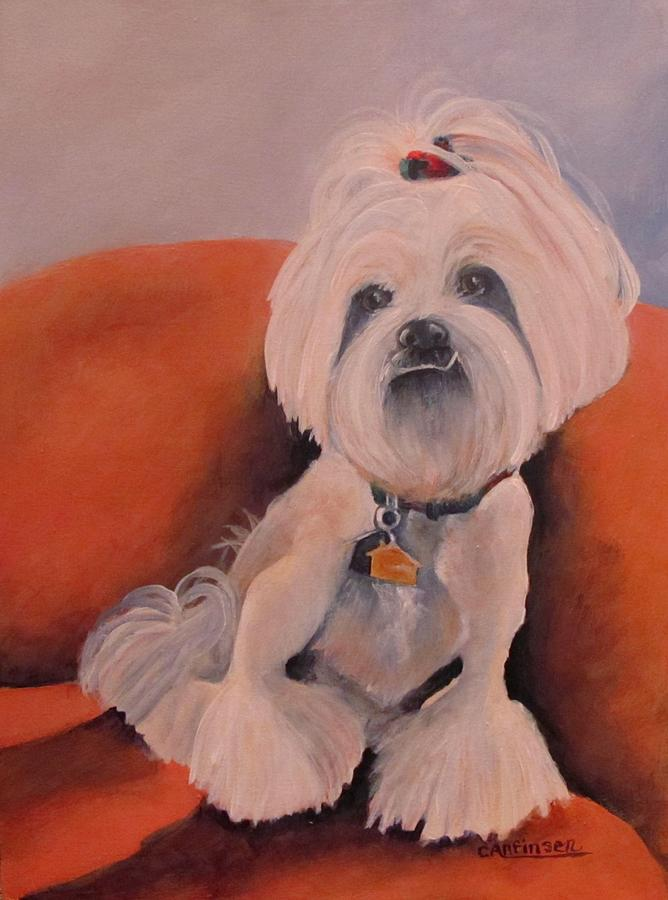 Pet Painting - Peaches n Cream by Carol Allen Anfinsen
