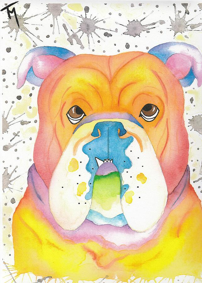 Dog Painting - Peaches by Kat Meza
