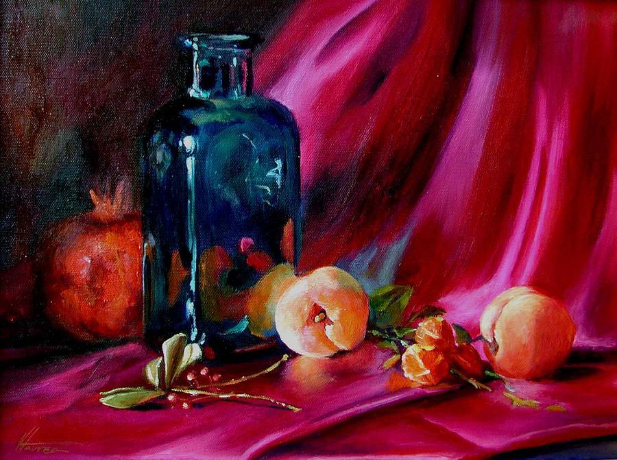 Peaches Painting by Virginia Larrea LaTourrette