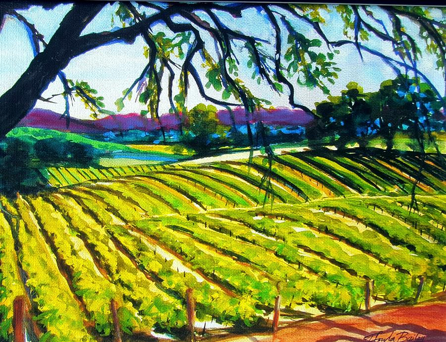 Paso Robles Painting - Peachy Canyon Vines by Therese Fowler-Bailey