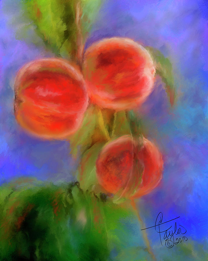 Peaches Painting - Peachy Keen by Colleen Taylor