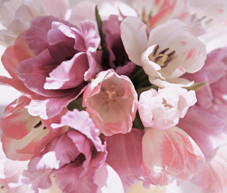 Spring Flowers Pastel - Peachy Pink Tenderness by Georgiana Romanovna