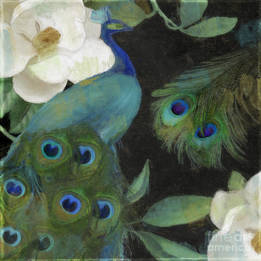 Peacock And Magnolia II Painting