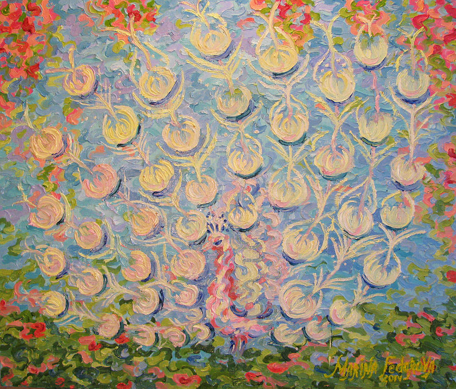 Peacock Painting - Peacock by Marina Fedorova