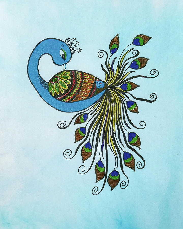 Peacock by Nadine Lewis