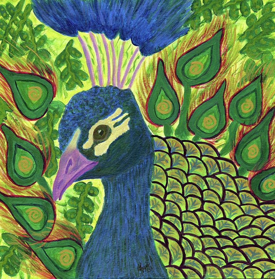 Peacock Power by Stephanie Agliano