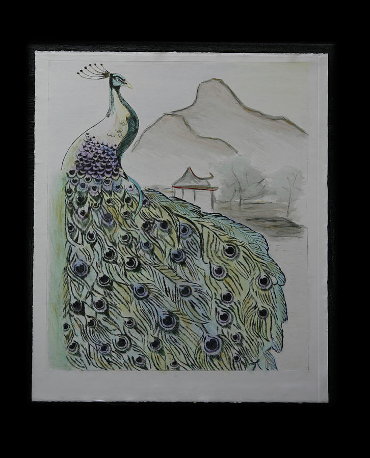 Peacock Mixed Media - Peacock by Robin Lee