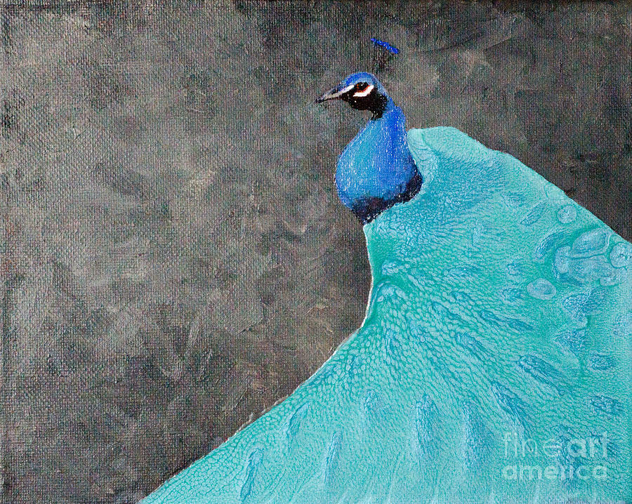 Peacock Painting - Peacock Style by Laurel Best