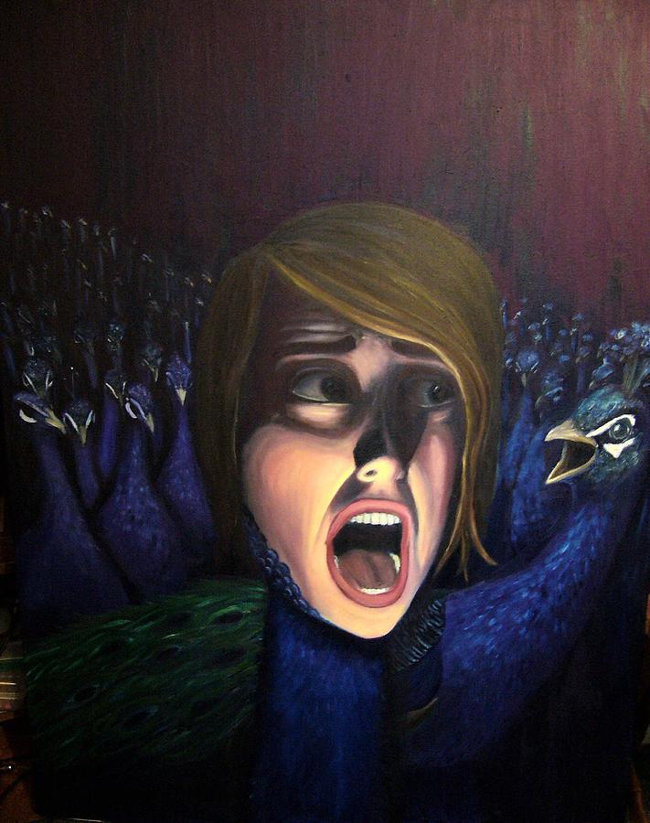 Peacock Painting - Peacocks by Aimee Helsper