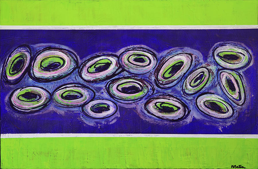 Abstract Painting - Peacocks On The Run by K Batson Art