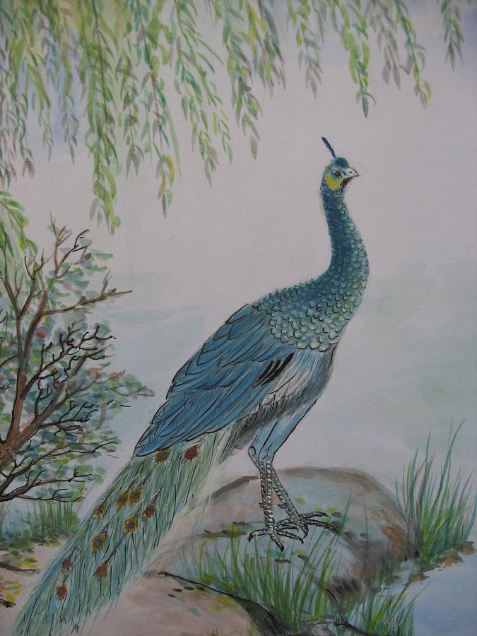Peafowl Painting by Gerry Fong
