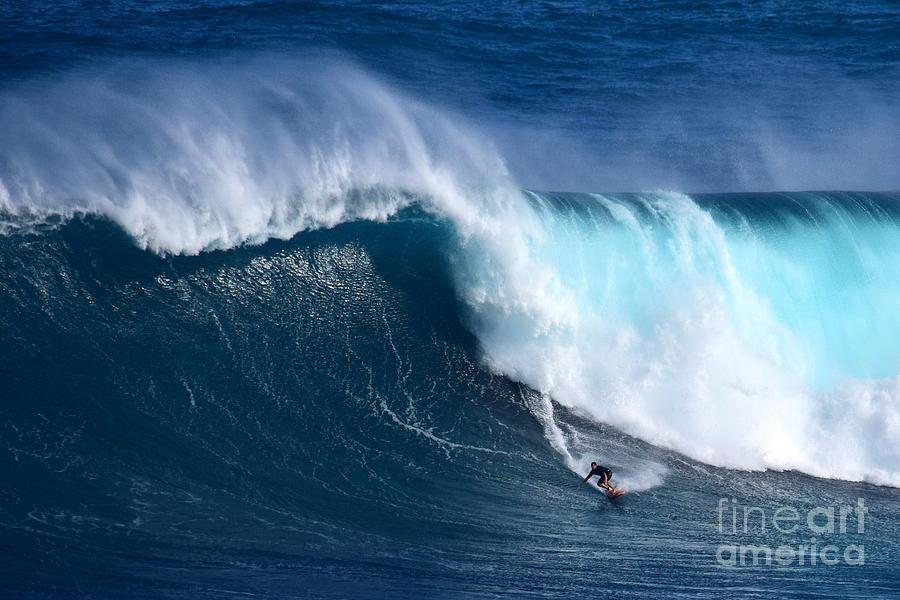 Jaws Photograph - Peahi Unleashes by Jackson Kowalski