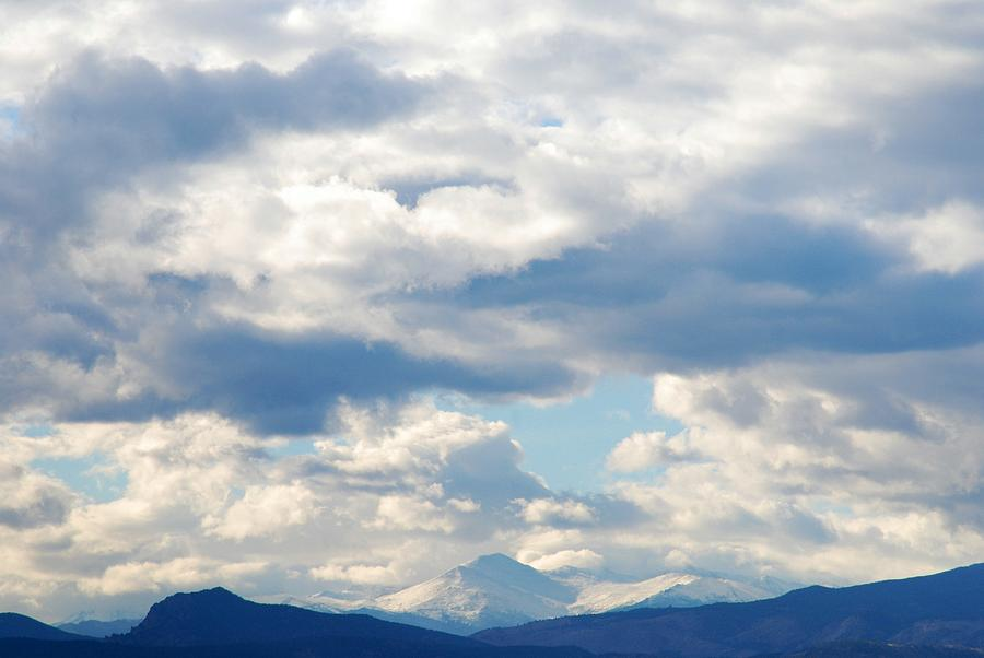 Colorado Landscapes Photograph - Peaks Among The Clouds by Angie Tirado
