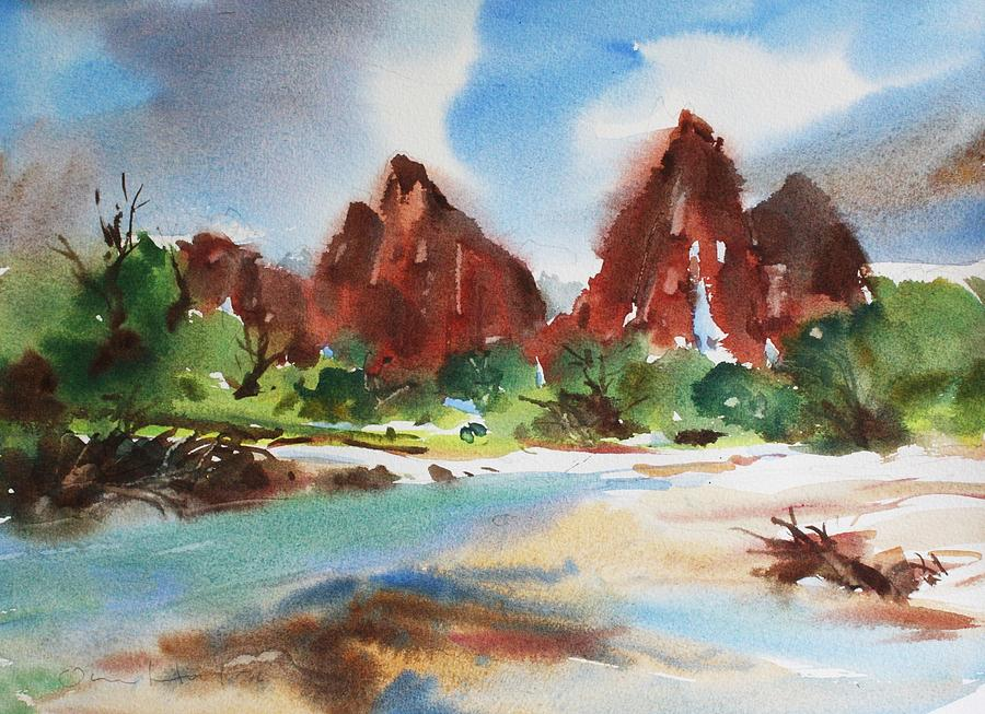 Zion Painting Painting - Peaks Of Zion by Owen Hunt