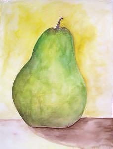 A Pear Painting - Pear Alone by Danielle Juracka
