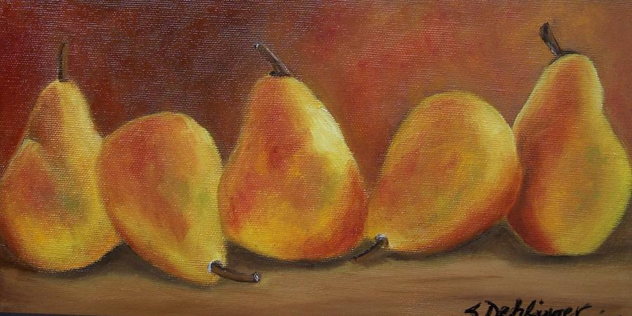 Fruit Painting - Pear Row by Susan Dehlinger