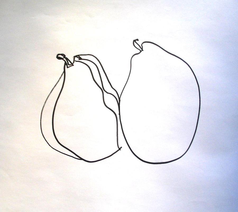 Pear Study - Detail Drawing by Linda DiGusta