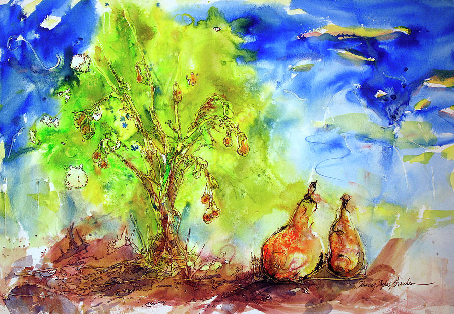 Pear Tree And Two Painting