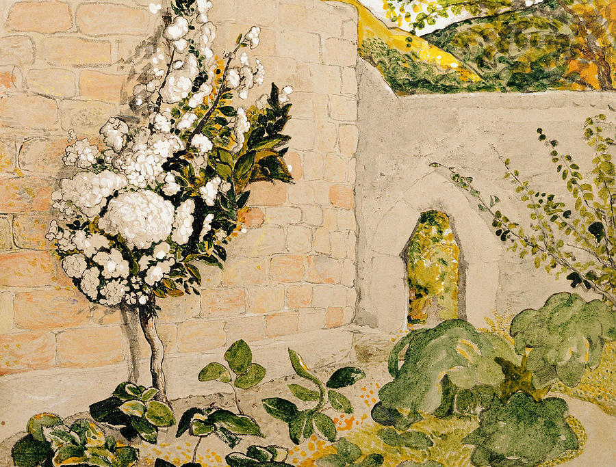 Pear Tree In A Walled Garden Painting by Samuel Palmer