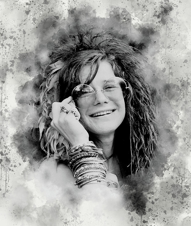 Janis Joplin Digital Art - Pearl by Karl Knox Images