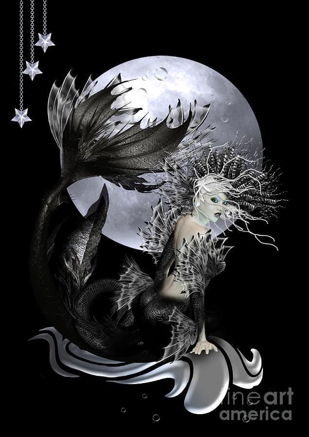 Mermaid Digital Art - Pearl by Shanina Conway