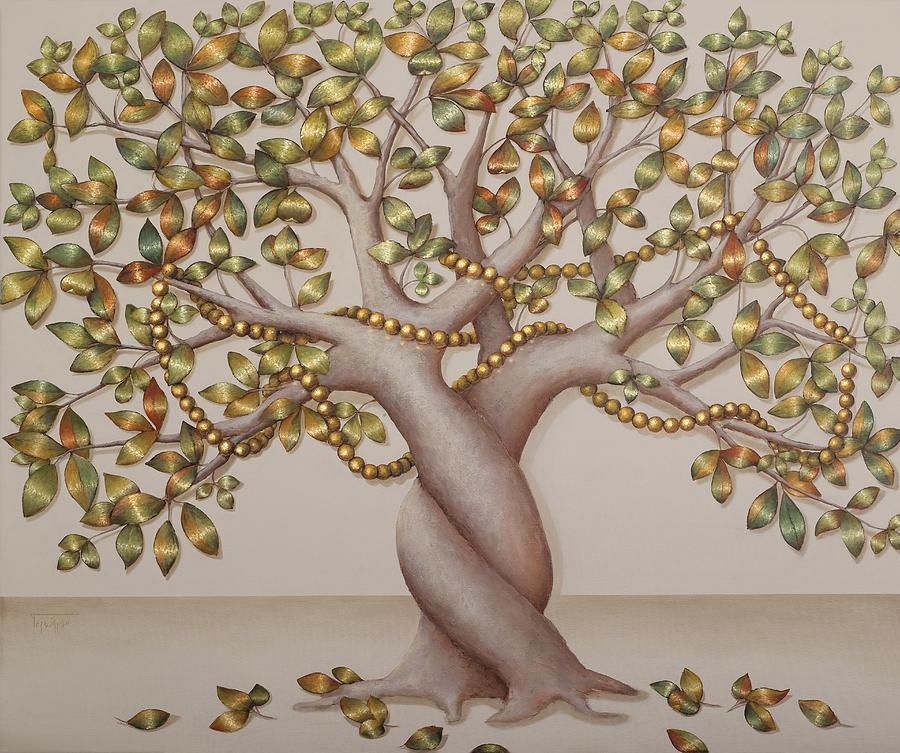 Tree Painting - Pearl Tree by Sobobak